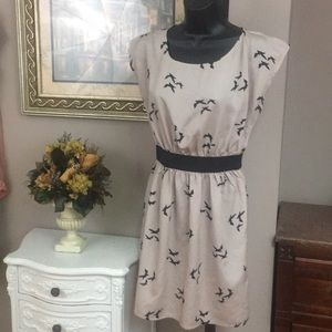 One Clothing tunic dress, bird print Size S